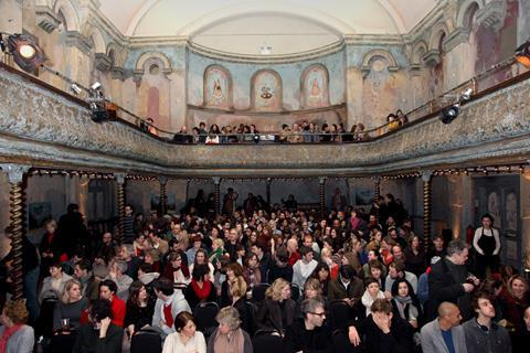The crowd at East London's Wilton's Music Hall